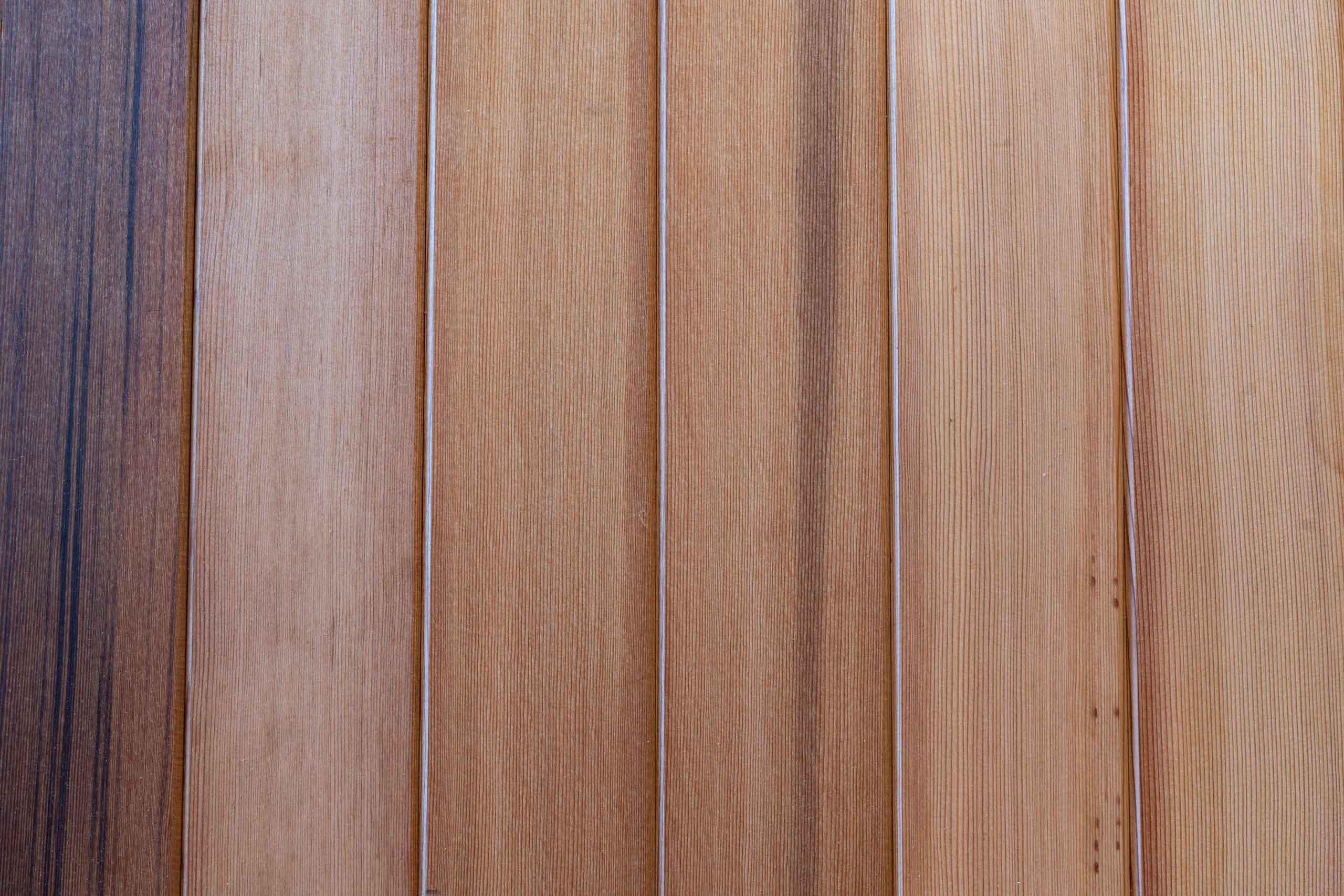 Wooden cedar flooring