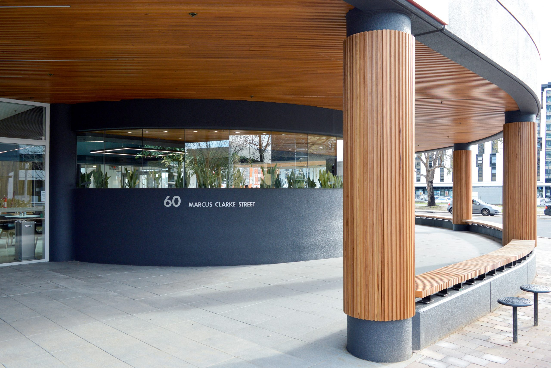 A building designed with cedar walls