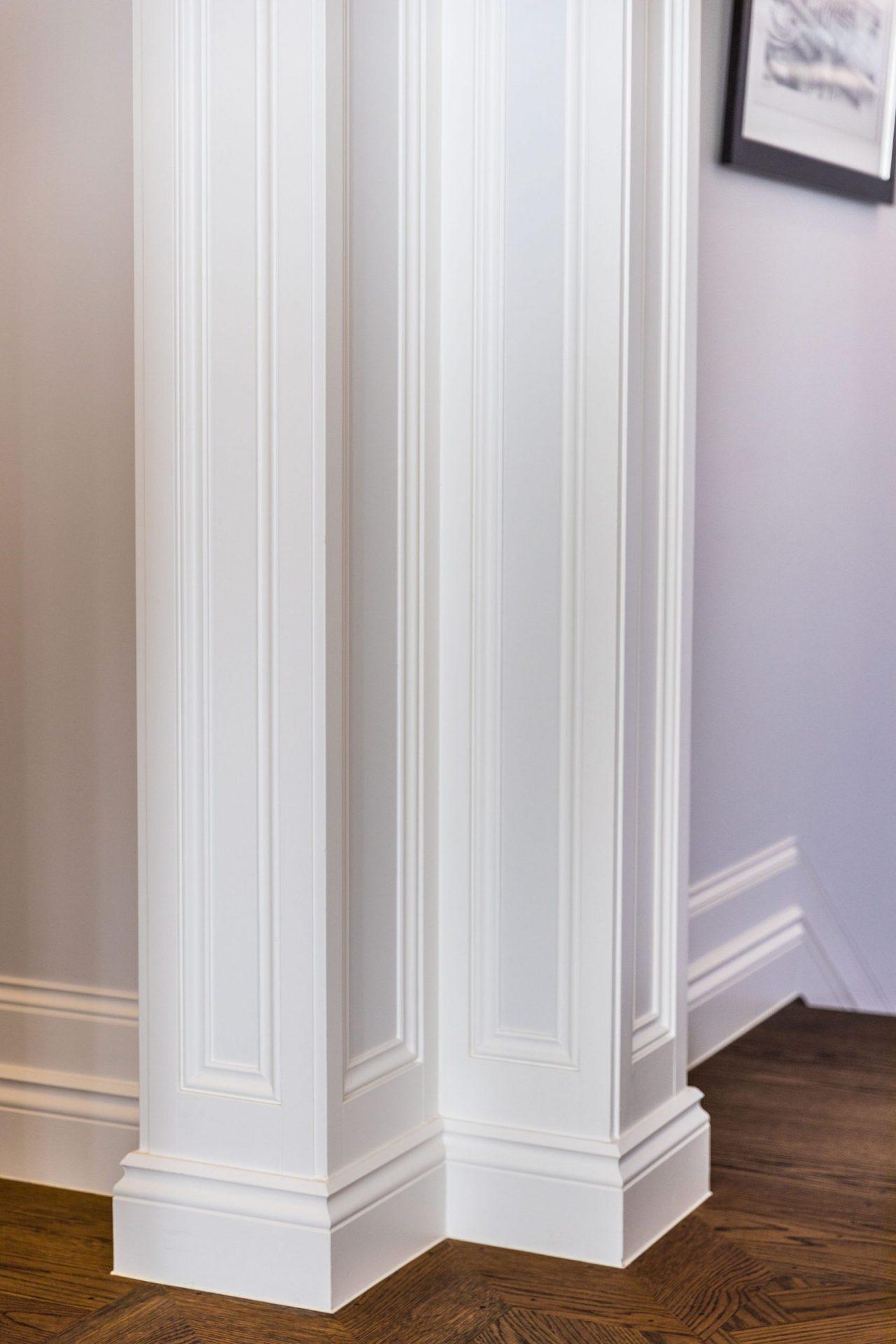 White wooden walls