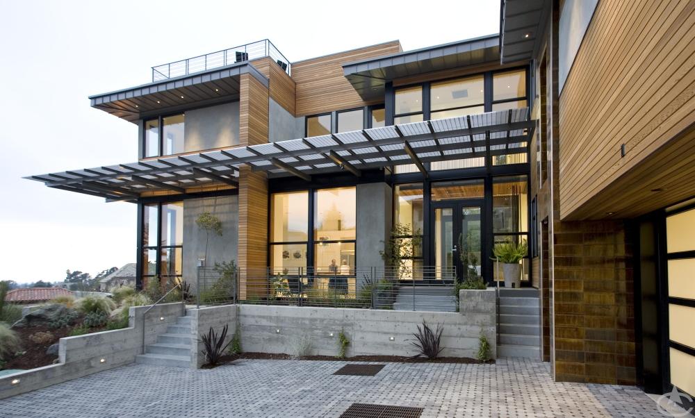 A luxury house made from cedar food