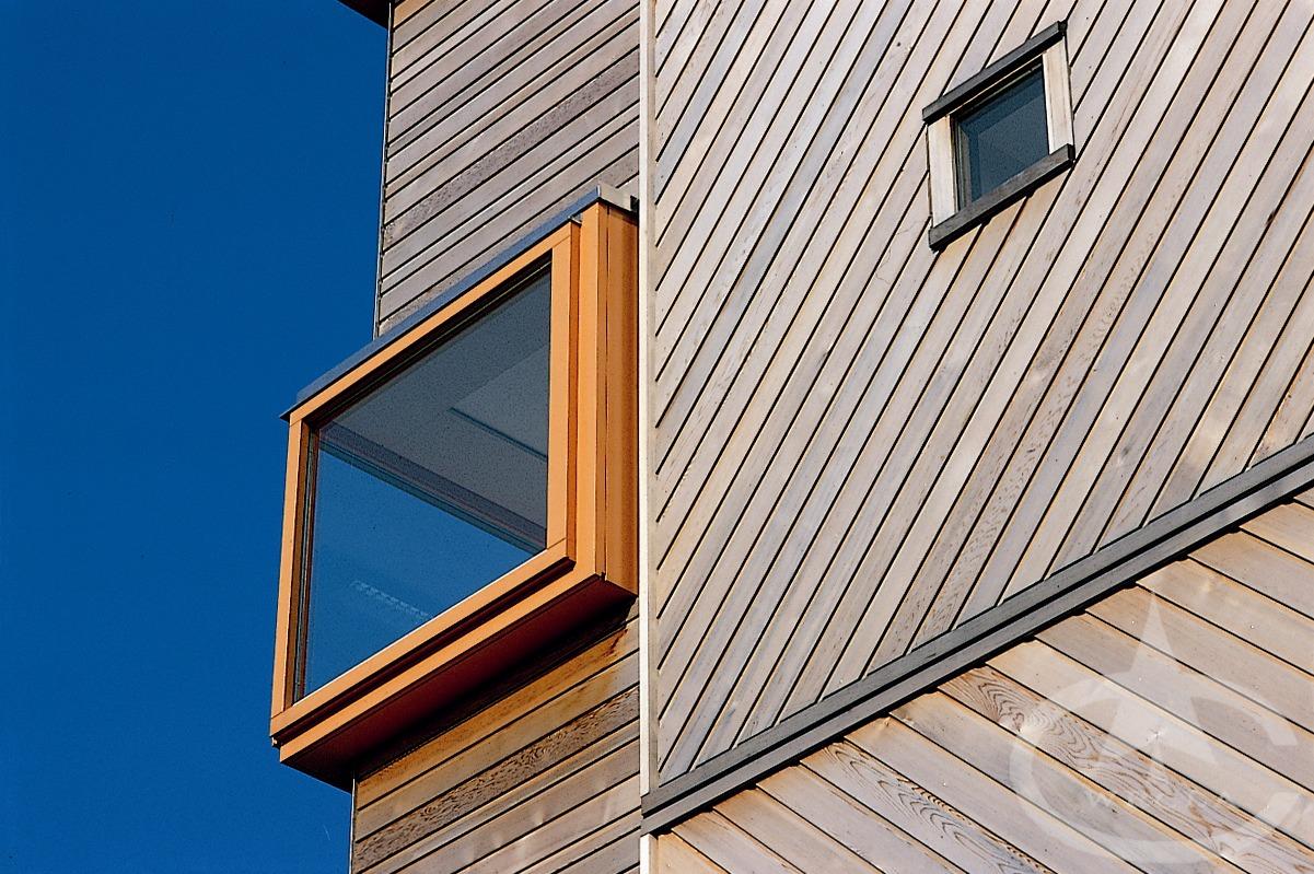 A modern house made of wood