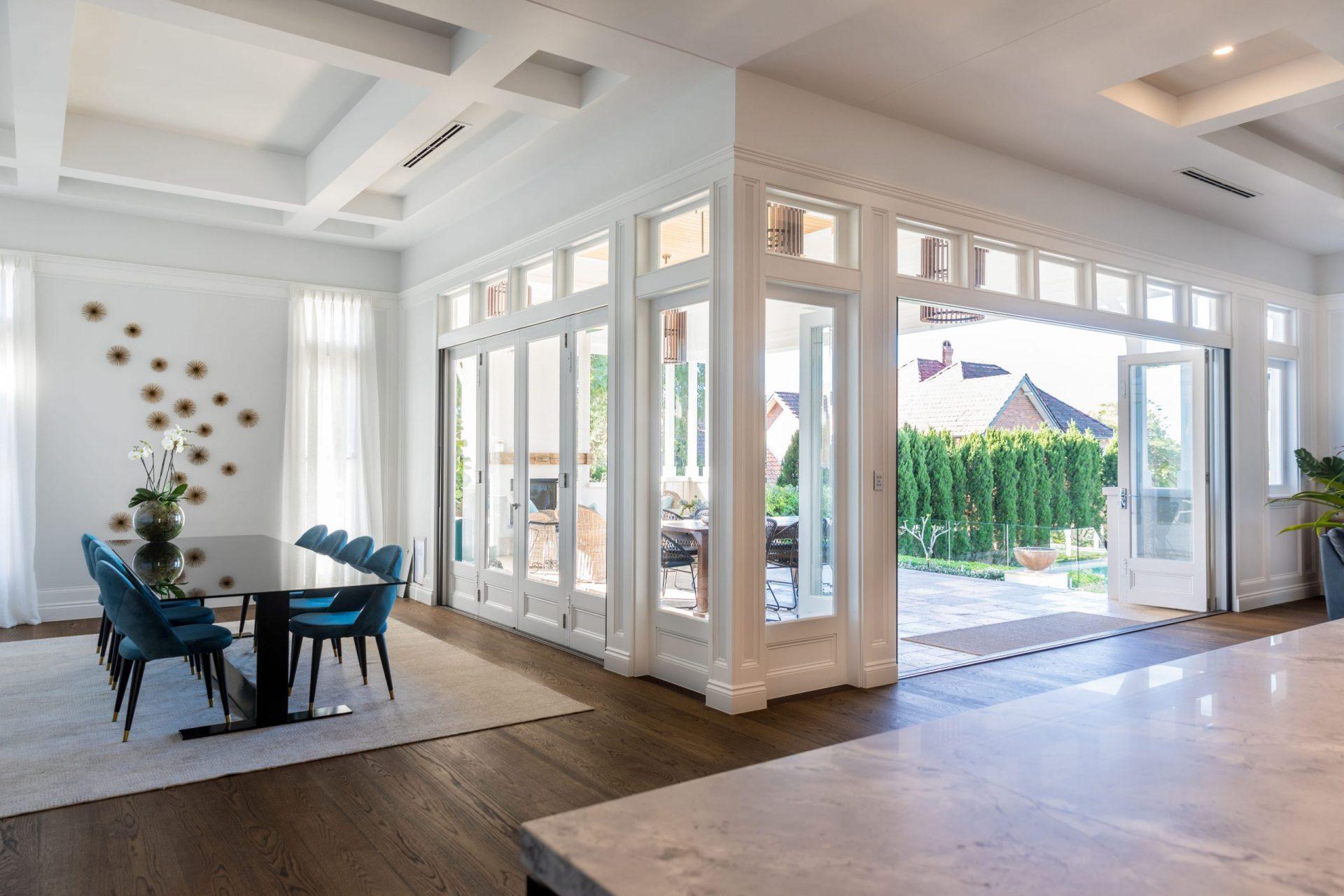 An open floor space home