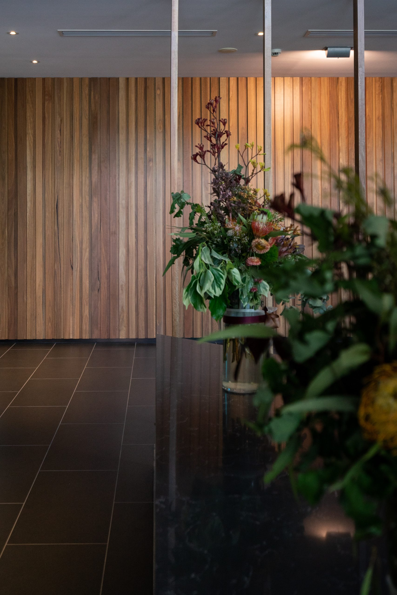Indoor plants inside a building