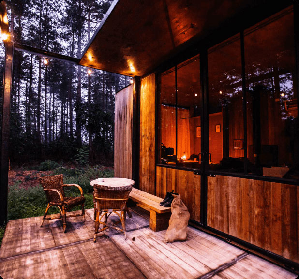 A tiny home in the woods